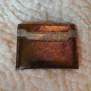 NWT J.Crew Bronze Credit Card case